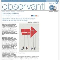 """Maastrichtse onderzoeker: """"Laat studenten een stem hebben in de inrichting van het onderwijs"""""""