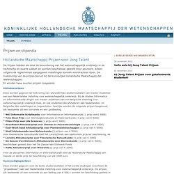 Prijs - De Koninklijke Hollandsche Maatschappij der Wetenschappen