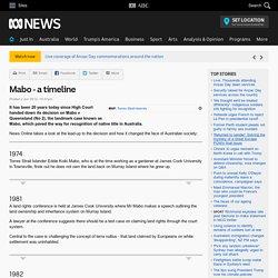 Mabo - a timeline