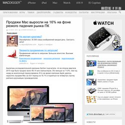 Продажи Mac выросли на 16% на фоне резкого падения рынка ПК
