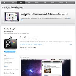 G+Tab for Mac