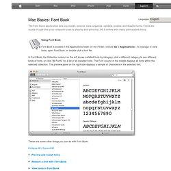 Mac 101: Font Book