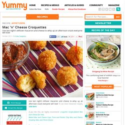 Mac 'n' Cheese Croquettes