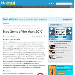 Mac Gems of the Year: 2010 Review | Software | Mac Gems