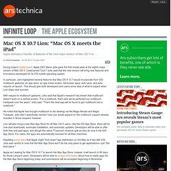 """Mac OS X 10.7 Lion: """"Mac OS X meets the iPad"""""""