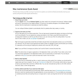 Mac maintenance Quick Assist