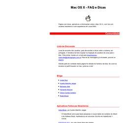 Mac OS X - FAQ e Dicas