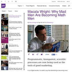 Macala Wright: Why Mad Men Are Becoming Math Men