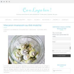 Macaron marocain au thé matcha
