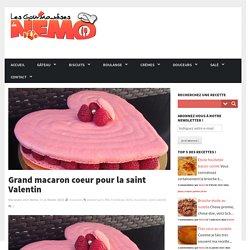 Grand macaron coeur pour la saint Valentin