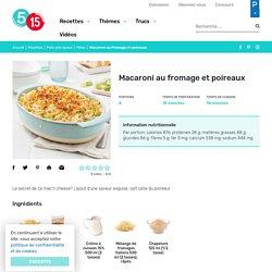 Macaroni au fromage et poireaux