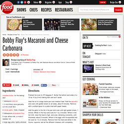 Bobby Flay's Macaroni and Cheese Carbonara Recipe : Bobby Flay