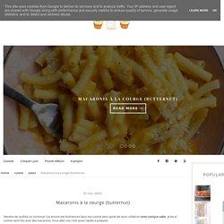 Macaronis à la courge (butternut)