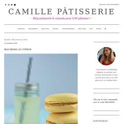 Macarons au citron - Camille Pâtisserie