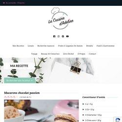 Macarons chocolat passion