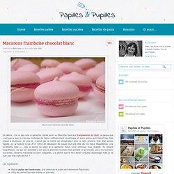 Recette - Macarons framboise chocolat blanc