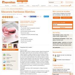 Macarons framboise Mamitou : Recette de Macarons framboise Mamitou
