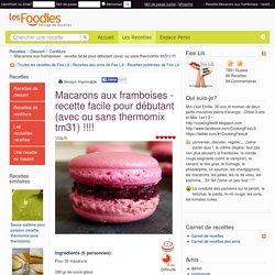 Recette de Macarons aux framboises - recette facile pour débutant (avec ou sans thermomix tm31) !!!!