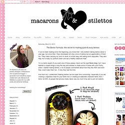 Macarons and Stilettos - A Personal Style Blog: The Bento Formula: the secret to making quick & easy bentos