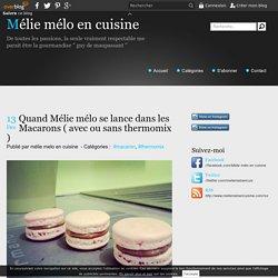 Quand Mélie mélo se lance dans les Macarons ( avec ou sans thermomix ) - Mélie mélo en cuisine