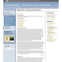MacArthur SES & Health Network