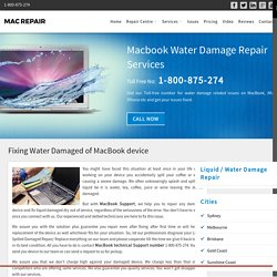 Macbook Water Damage Repair Services
