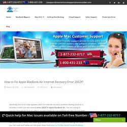Call 1877-232-0717 Fix Apple MacBook Air Internet Recovery Error 2002f