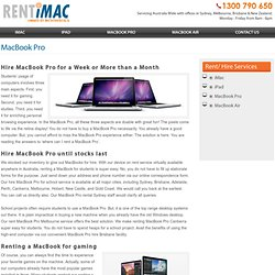 Rent Macbook Pro Sydney at A Fraction Of The Product Price
