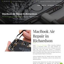 MacBook Air Repair in Richardson