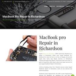 MacBook Pro Repair in Richardson