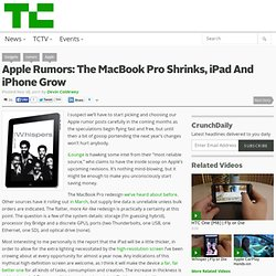 Apple Rumors: The MacBook Pro Shrinks, iPad And iPhone Grow