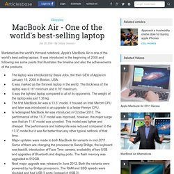 MacBook Air - One of the world's best-selling laptop