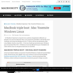 MacBook triple boot : Yosemite Windows Linux - MacBookCity