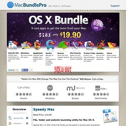 MacBundlePro OS X Bundle: 9 cool apps to get the most from your Mac