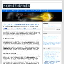 The Mac-cessibility Network – News [Lioncourt.com]