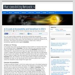 The Mac-cessibility Network – News [Lioncourt.com]