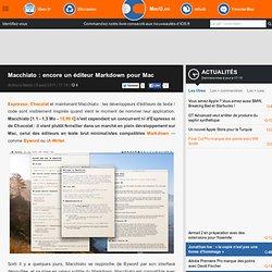 Macchiato : encore un éditeur Markdown pour Mac