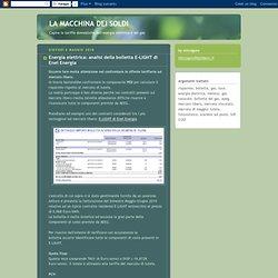 Energia elettrica: analisi della bolletta E-LIGHT di Enel Energia