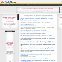 MacDailyNews - Apple and Mac News - Welcome Home