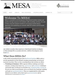MESA | MacDiarmid Emerging Scientists Association