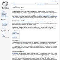 Macdonald triad
