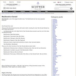 MacDonald or Donald Clan History: MacDonald family information - Scotweb Information Centre