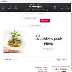 Macédoine poids plume - une recette Légumes - Cuisine