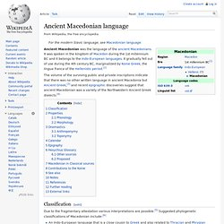 Ancient Macedonian language