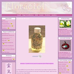 macérats floraux