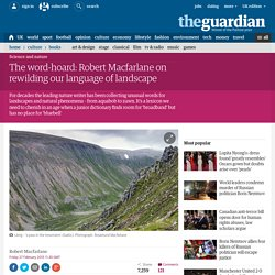 The word-hoard: Robert Macfarlane on rewilding our language of landscape