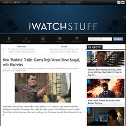 I Watch Stuff - New 'Machete' Trailer: Danny Trejo Versus Steve Seagal, with Machetes