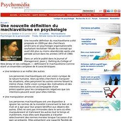 Une nouvelle définition du machiavélisme en psychologie