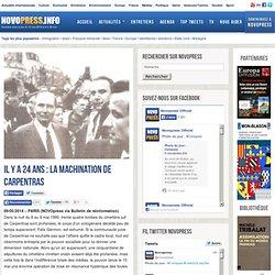ELECTIONS et les MANIPULATIONS POLITIQUES : La machination de Carpentras