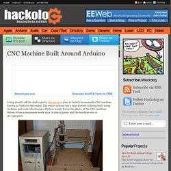 CNC Machine Built Around Arduino